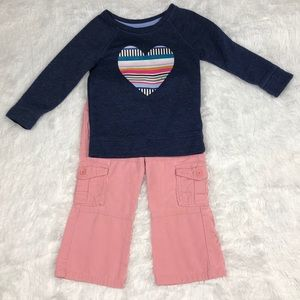 Mixed Brands 2T Outfit Pants & Sweatshirt